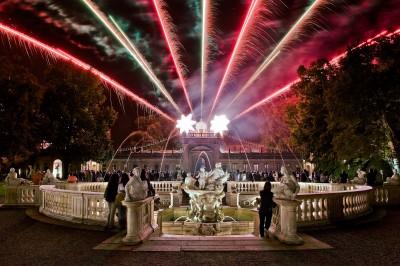Fotografia spettacolo pirotecnico Villa Litta Lainate