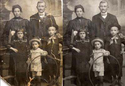 Recupero immagini di famiglia