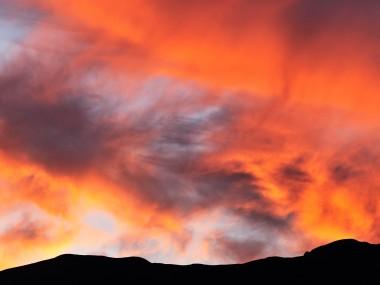 Foto silhoutte al tramonto